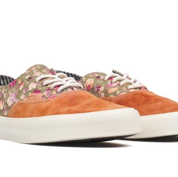 Vans Shoes - Floral VANS Era Decon CA Mocha Bisque